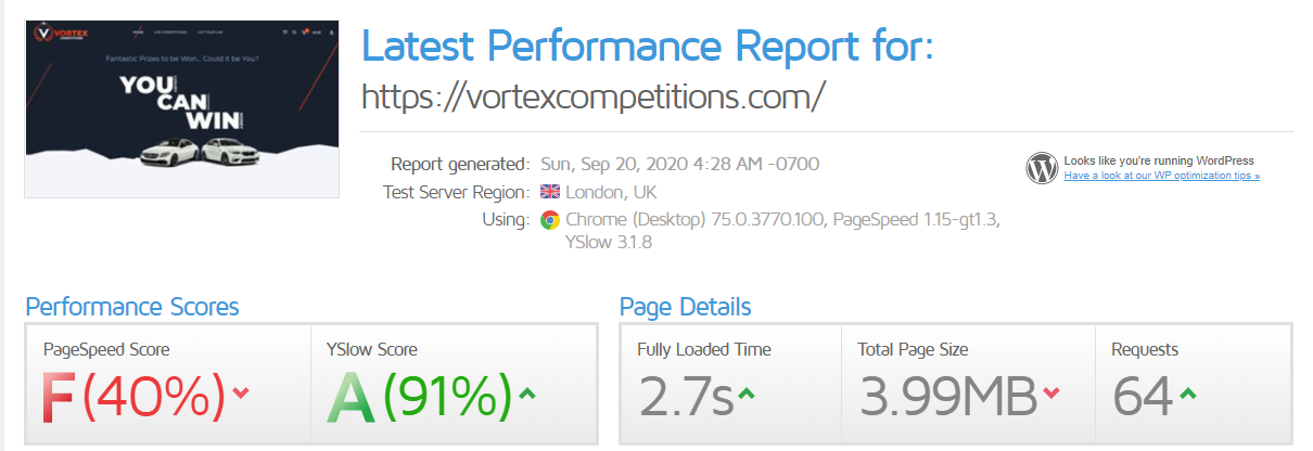 Wordpress Performance Optimisation Case Study (After)